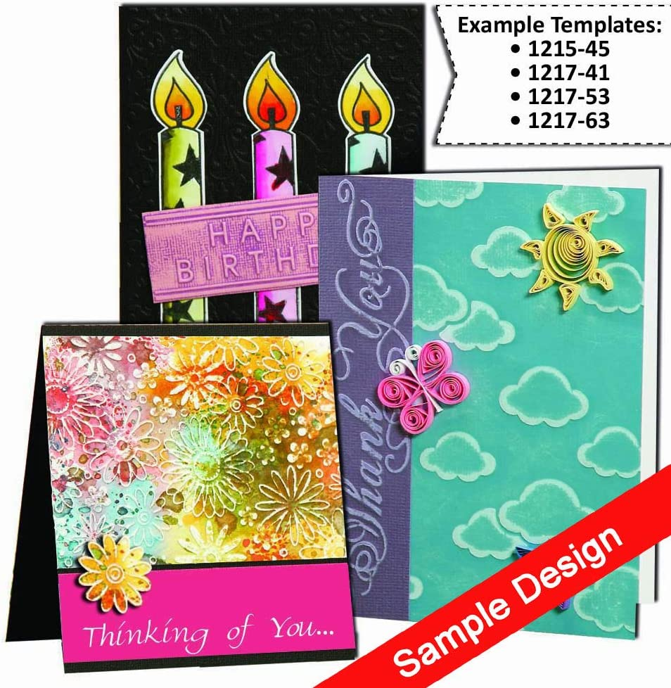 Darice DIY Embossing Folders for Card Making Si x Square Patterns 4.25 x 5.75 inches 30041342 Bundle with 2 Tim Holtz Distressed Ink Mini Pads and 1 Artsiga Crafts Small Bag