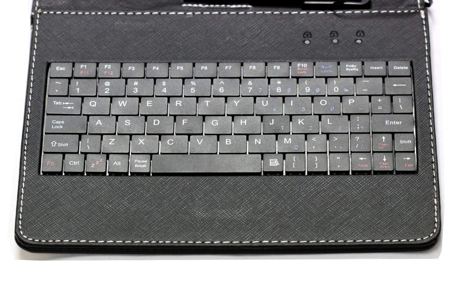 Navitech Black Micro USB Keyboard Case/Cover Compatible with The Wallmart Onn Android 10.1