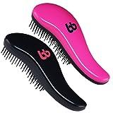 Amazon Price History for:Detangling Hair Brush Set of 2, Best Detangler Comb for Women, Men & Children, Black & Pink, By Beauty Bon