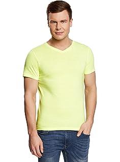 MERAKI Camiseta de Manga Corta con Corte Estándar y Cuello de Pico ... 4e8c78c9a157
