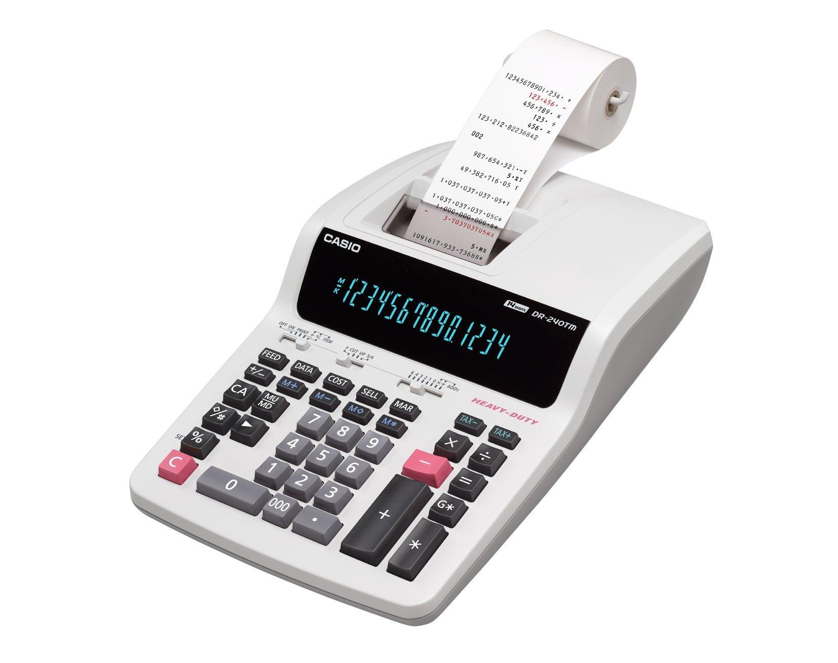 Casio printer calculator desk type 14-digit DR-240TM