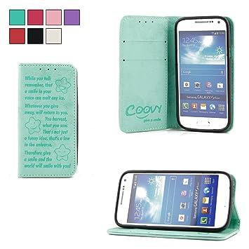 COOVY® Funda para Samsung Galaxy S4 Mini GT-i9190 GT-i9195 GT-i9192 Billetera, Ranuras para Tarjetas, Cierre magnético, Soporte, Protectora de ...