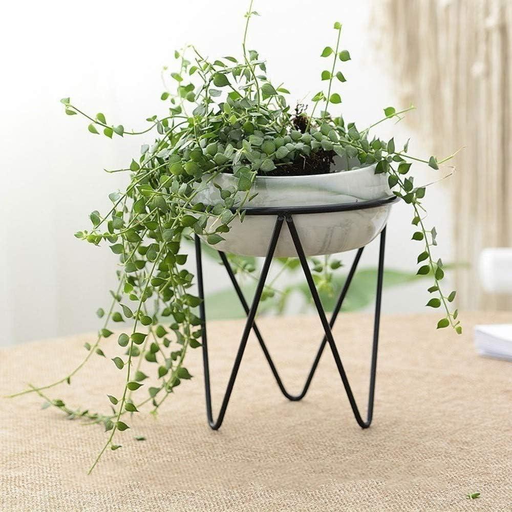Creativa maceta de cerámica gran planta hidropónica simple de hierro forjado de escritorio colgar en la pared flor en maceta