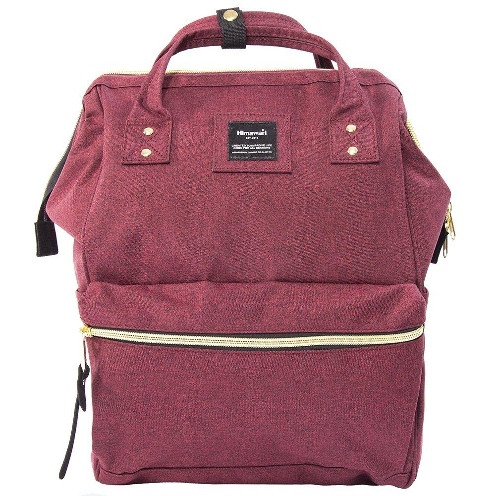 Himawari Travel Backpack Large Diaper Bag School multi-function Backpack for Women&Men 11''x16''x6.3''(Crimson)