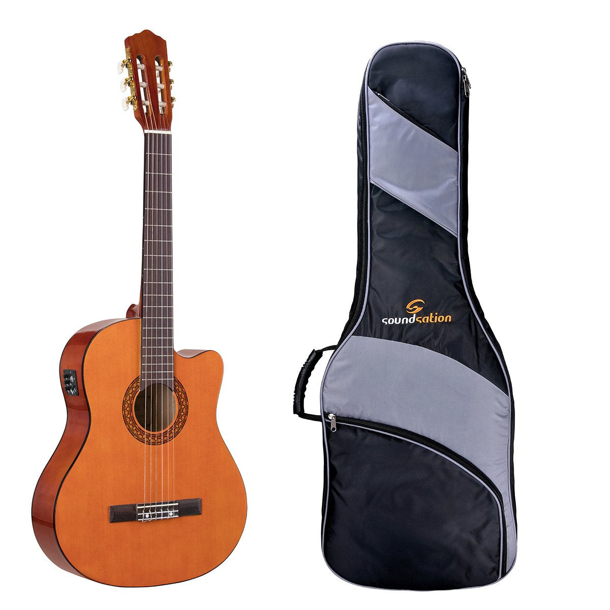 Guitarra Clásica electrificada Toledo 4/4 + Bolsa Acolchada ...