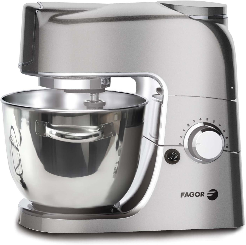 Fagor 964010029 RT de 1255ma Robot de cocina, 10 niveles de potencia, cuenco (4 L, 80 Db, incluye batidor, ganchos para amasar y varillas, 1000 W, acero inoxidable): Amazon.es: Hogar