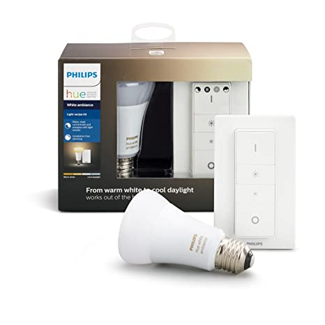 bb9531b8193a Philips Hue White Ambiance Light Recipe Kit, E27 LED-Lampe inkl.  Dimmschalter, dimmbar, alle Weißschattierungen, steuerbar via App,  kompatibel mit ...
