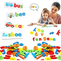 Seeing and spelling words learning toys, matching letter spelling games, sight games, English alphabet early education…