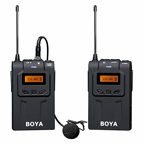 Boya by-WM6 UHF Microphone System for DSLR Camera Camcorder Wireless Releases at amazon
