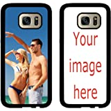 Custom Phone Cases Samsung Galaxy S7, iZERCASE [PERSONALIZED CUSTOM PICTURE CASE] [Perfect Fit] Make Your Own Phone Case (BLACK)