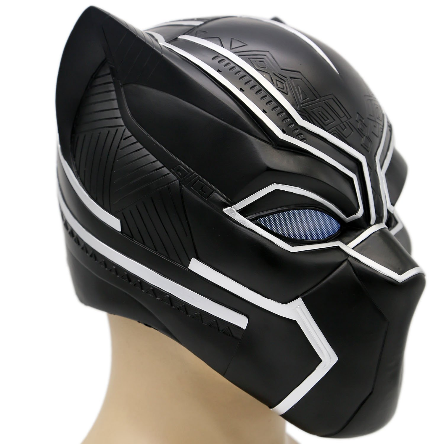 Amazon Com Black Panther Mask Deluxe Teens Helmet Captain Halloween Party Cosplay Costume Xcoser Clothing