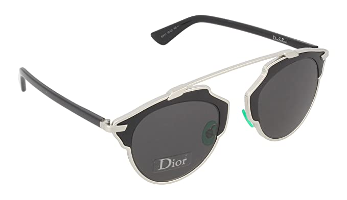 14b9256daa Dior Sunglasses Dior So Real Sunglasses B1AY1 Silver and Black 48mm. Roll  over image to zoom in