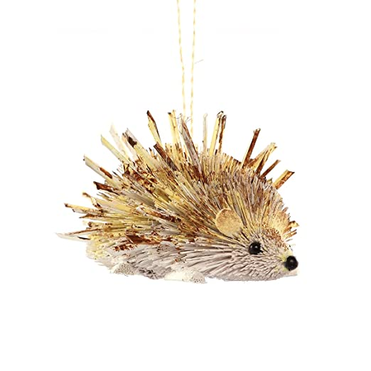 Natural Buri Hedgehog Ornament by GII