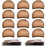 Brown Wig Cap,MORGLES 20pcs Wig Caps Stocking Caps For Wigs Stretchy Wig Caps Wig Caps For Women-Brown