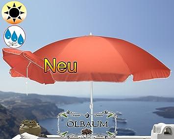 Amazon De Grosser Sonnenschirm 180 Cm O 1 80 M Rot Lachsrot