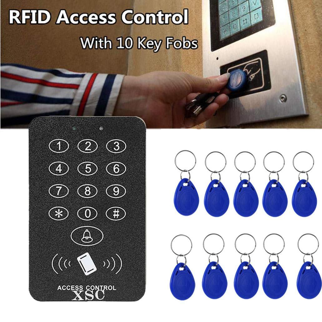 Security RFID Code Lock Access System,Vovomay Access Control Door Opener +10 Clips