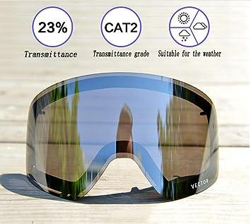 MEI Goggles Gafas De Esquí Antiempañamiento Gafas De Doble Acristalamiento Protección UV Medida Del Producto: