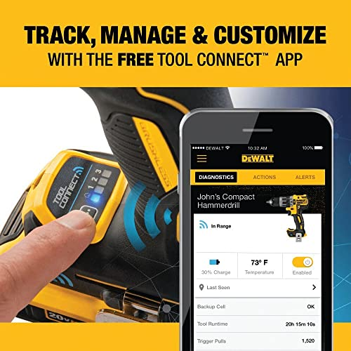 UseDeWalt's mobile app to pair the drill up with your phone to track all of the data on the drill