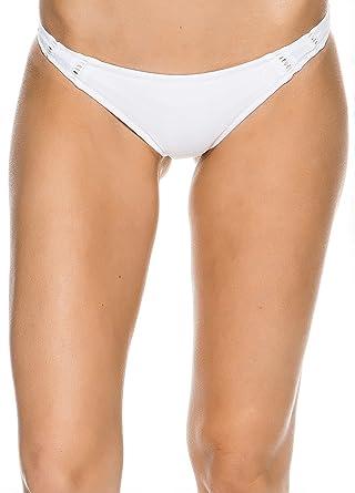 66f5e75317 Amazon.com  New Rhythm Women s My Cheeky Bikini Bottom Nylon Spandex Blue   Clothing