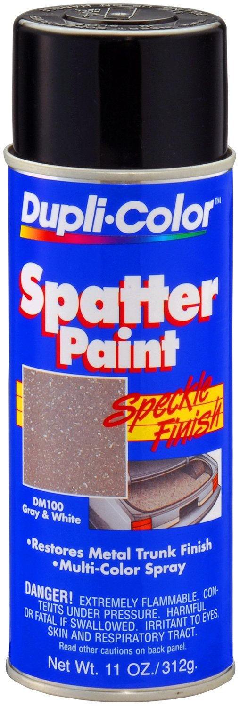 Dupli-Color (DM100-6 PK Gray/White Spatter Trunk Paint - 11 oz. Aerosol, (Case of 6)