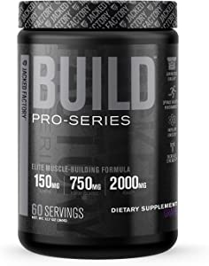 Pro-Series Build Muscle Builder - Premium Muscle Building and Mass Gainer Energy Supplement - Boost Muscle Growth, Post Workout Muscle Recovery, and Pre Workout Strength - 60 Servings, Grape