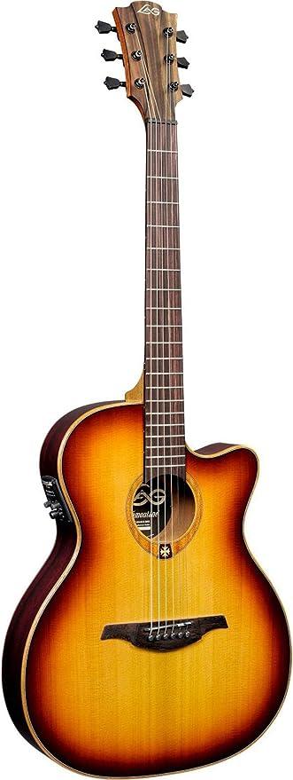 Lag - T100asce brs auditorium guitarra elec. acustica cutaway slim ...