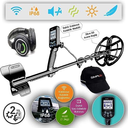 Nokta Makro Simplex WHP Waterproof Detector with 11 Coil Wireless Headphones