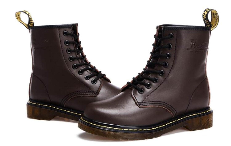 GTYMFH Martin Stiefel Herren Herbst Und Winter Europa Und Den Vereinigten Staaten Lederstiefel Hohe Stiefel Spitzen Outdoor Lederstiefel