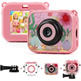 TAOCOCO 子供用 デジタルカメラ トイカメラ キッズカメラ500万画素IP68 30M防水カメラ おもちゃ 子供プレゼント 2.0インチ4倍ズーム1080P録画 子供カメラ 子供ギフト タイマー撮影 連写 USB充電 日本語説明書付き (ピンク)