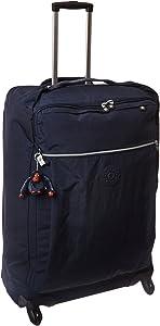 Kipling Darcey Softside Spinner Wheel Luggage, True Blue, Checked-Large 30-Inch