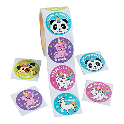 Fun Express - Anicorn Roll Stickers - Stationery - Stickers - Stickers - Roll - 100 Pieces: Toys & Games