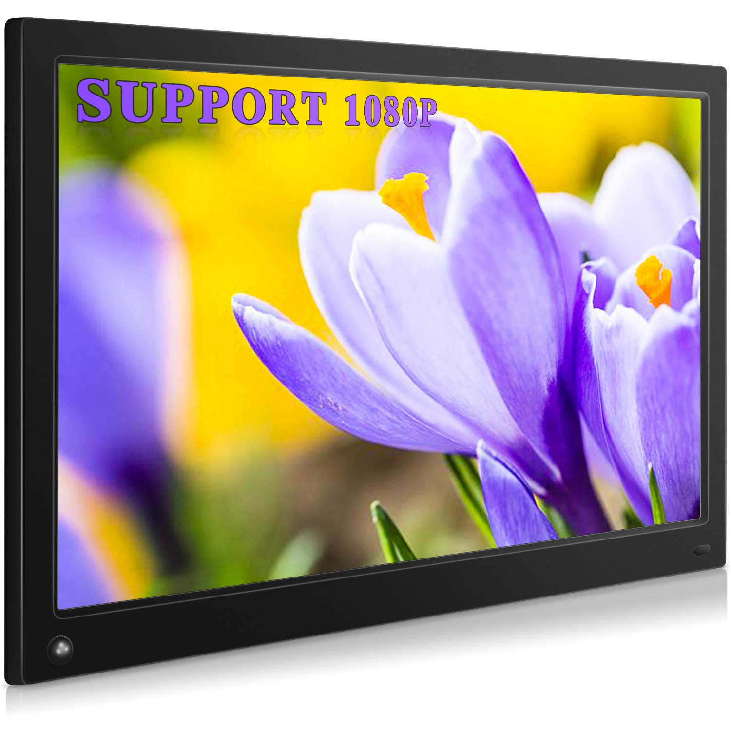 MRQ 15.6 Inch Digital Photo Frame Display Photos with Background Music 1080P Video USB SD Solt Supported, 1920x1080 HD Digital Picture Frame with Auto-Rotate, Motion Sensor Function, Remote Control by MRQ