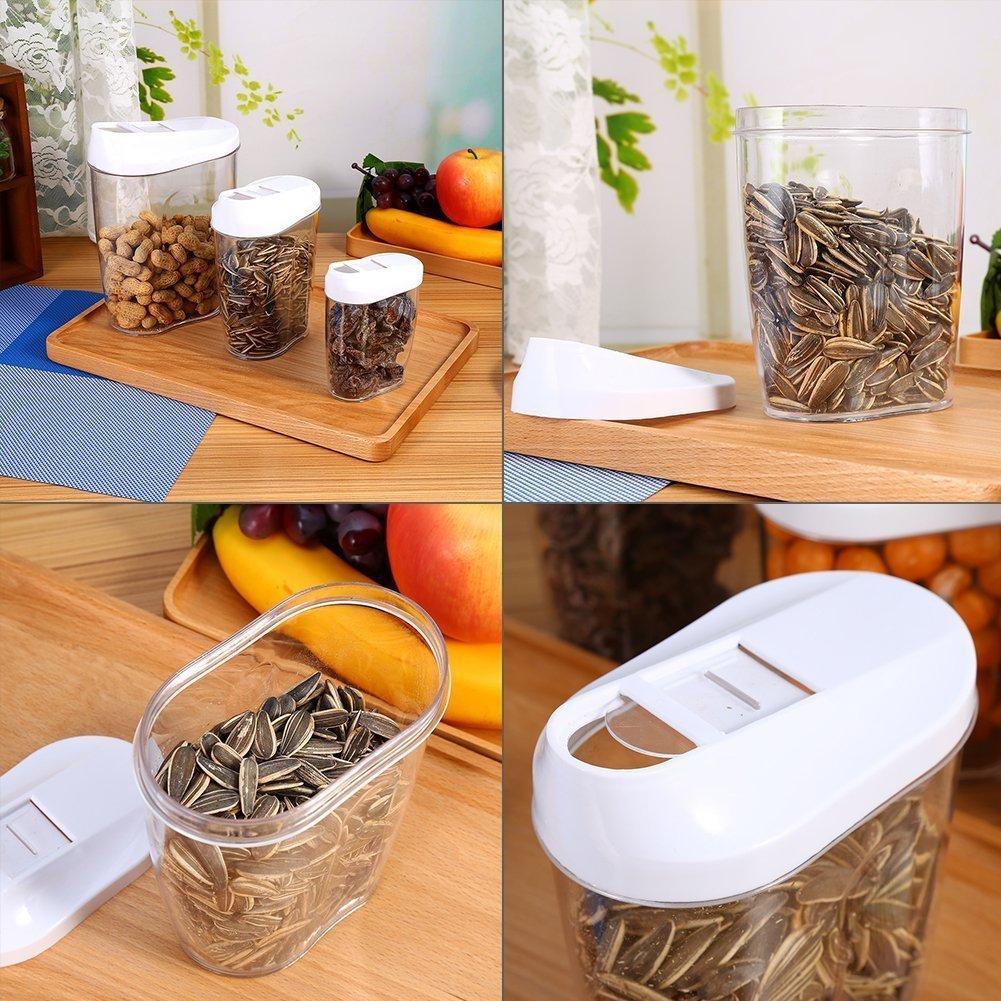 Gearmax® Jarras de Almacenamiento de Plástico con Tapa Hermética, Juegos de recipientes de 5 Pieza: Amazon.es: Electrónica