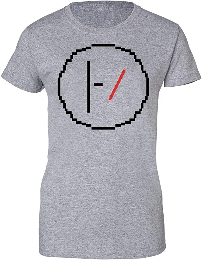 Wicked Design Twenty One Pilots Logo Pixelated Camiseta de Mujer: Amazon.es: Ropa y accesorios