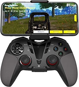 Delta essentials Bluetooth Wireless Mobile Game Controller for iOS/Android OS/PS3/PC Windows, Gamepad for Mobile Gaming Support Keymapping Black