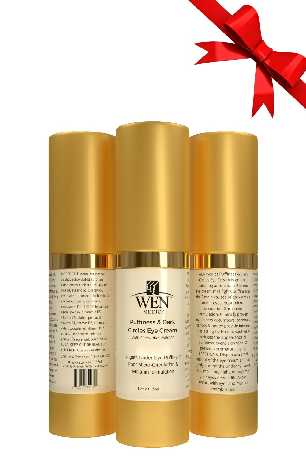 Puffiness Bags and Dark Under-eye Circle Eye Cream With Eyebright & Coffee Seed Extract - by WENmedics 15ml