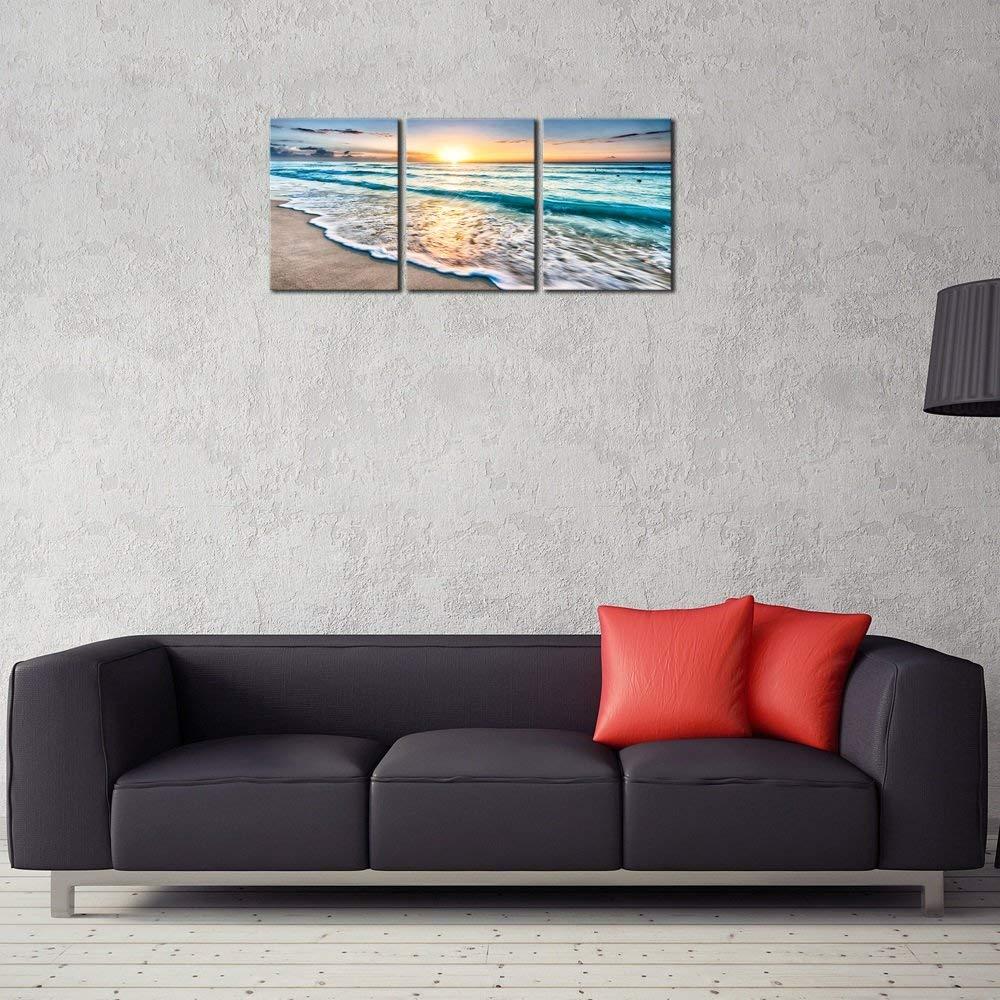 Amazon.com: Pyradecor - Cuadro en lienzo con 3 paneles ...