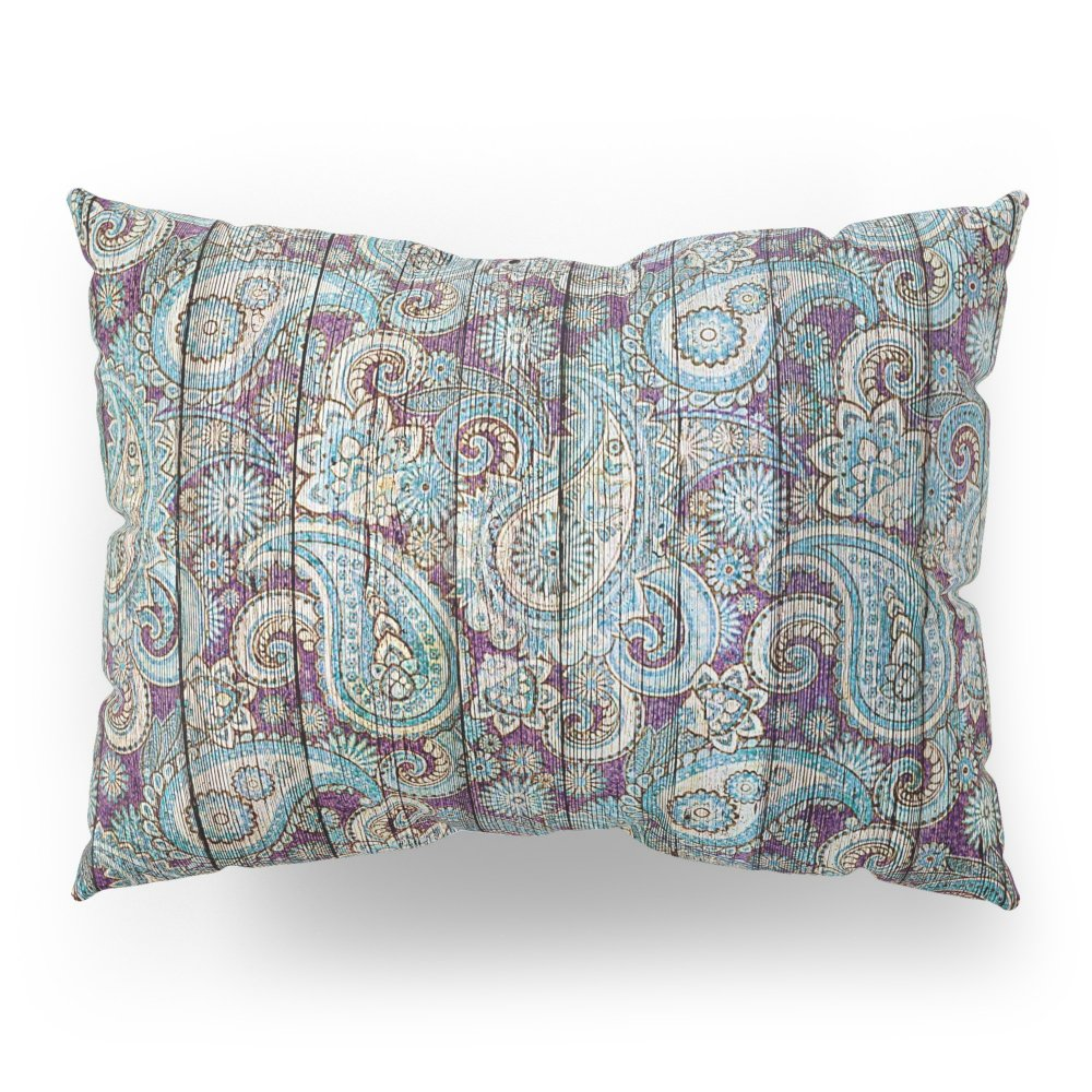 Society6 Kashmir On Wood 06 Pillow Sham Standard (20'' x 26'') Set of 2