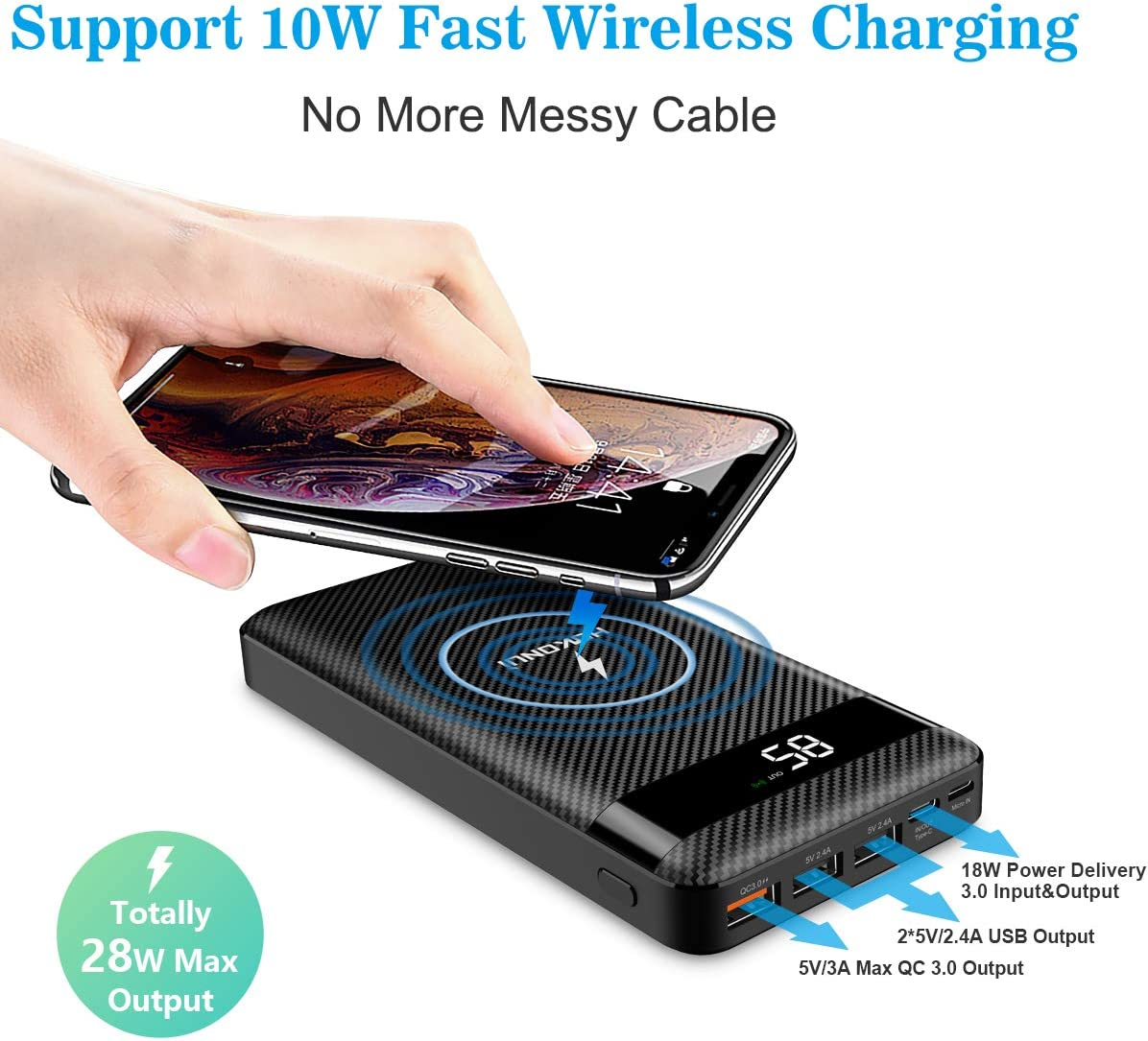 Portable Charger Wireless Power Bank
