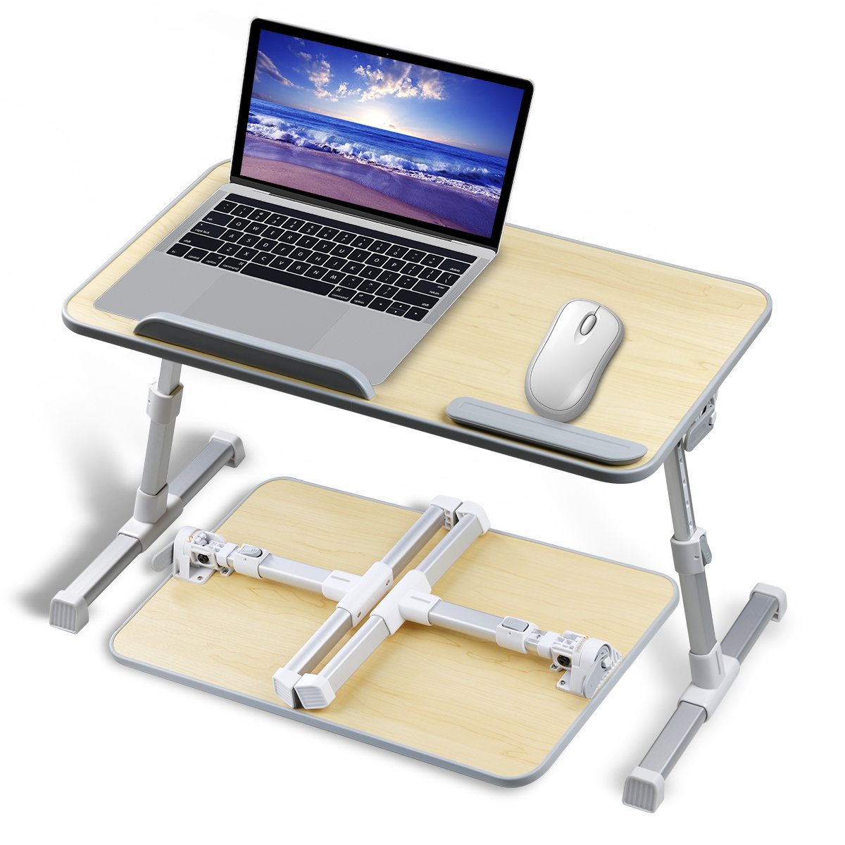 Adjustable Laptop Stand for Desk Bed Couch,Fit for 13-15inch Laptop,Foldable and Portable,Comfortable Ideal for Sit/Stand Lying Working by Aplomb (Image #1)