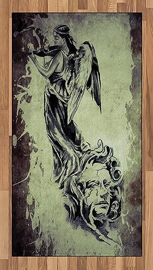 Lunarable - Alfombra de tatuaje con diseño de ángel retro que ...