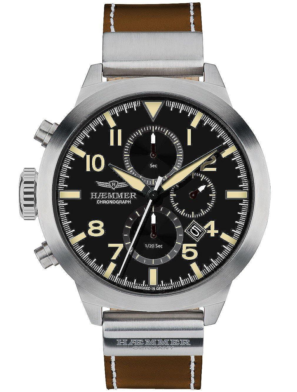 ヘンマー 腕時計 ドイツブランド クロノグラフ 日本製ムーブメント 50mm 10ATM PRUDENT HF-03 [並行輸入品] B01IEDVG5M