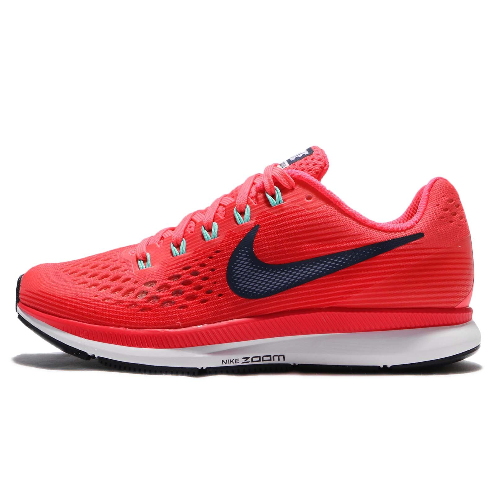 NIKE Women's Wmns Air Zoom Pegasus 34, Hot Punch/Thunder Blue, 7 US