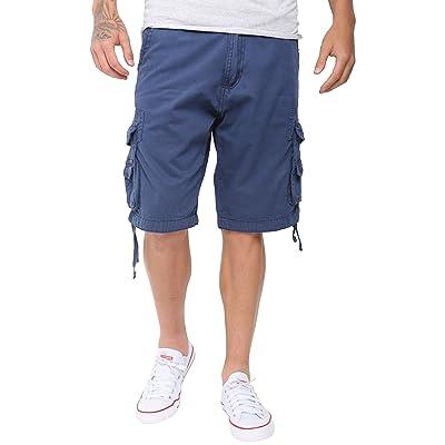SkylineWears Mens Casual Slim Fit Cotton Solid Multi-Pocket Cargo Twill Shorts