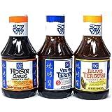 Soy Vay Variety Pack Veri Veri Teriyaki Sauce, Hosin Garlic, Island Teriyaki (Pack of 3)