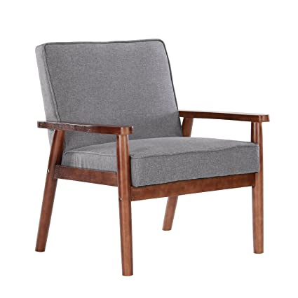 Superieur Artechworks Mid Century Modern Upholstered Wooden Armchair Fabric Reading  Chair