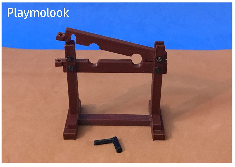 Cepo Medieval miniatura escala playmobil, impresión 3D - Figuras playmobil y accesorios no incluidos