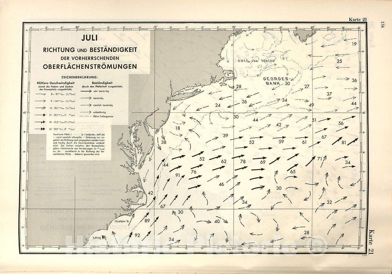 Amazon Com Historic 1943 Map Ubootshandbuch Der Ostkuste Der