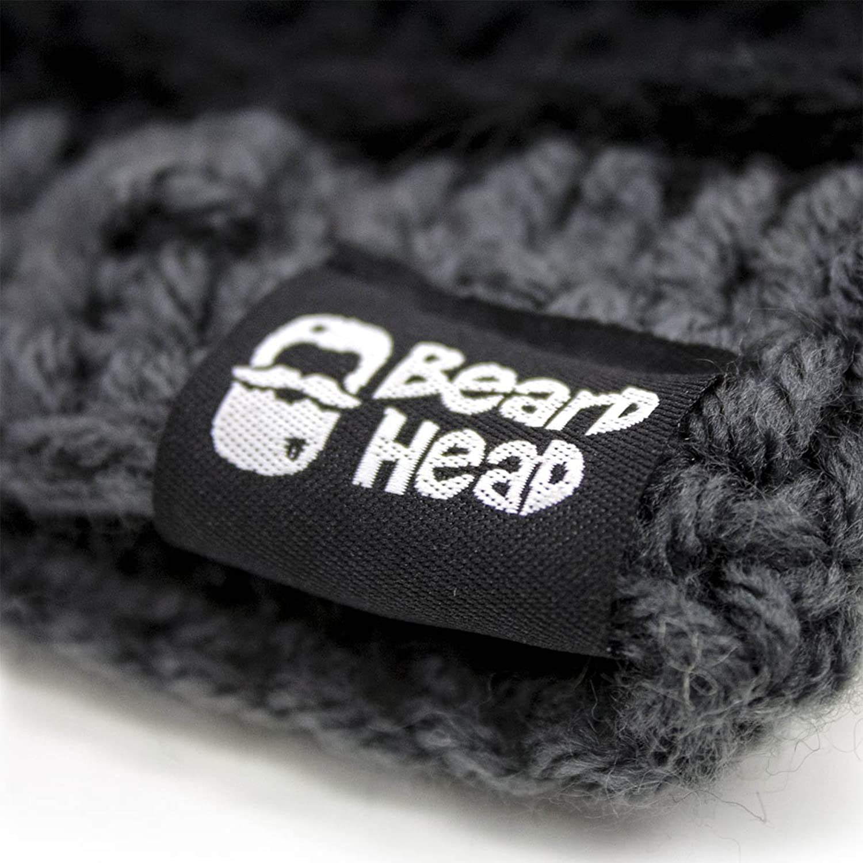 Beard Head The Original Barbarian Pillager Knit Beard Hat (Black) at ...