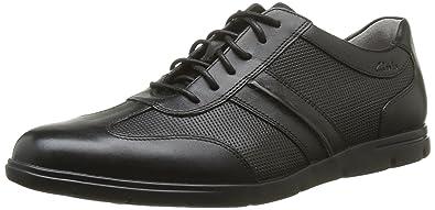 a27063422006b Clarks Denner Race, Baskets Mode Homme - Noir (Black Leather), 39.5 ...